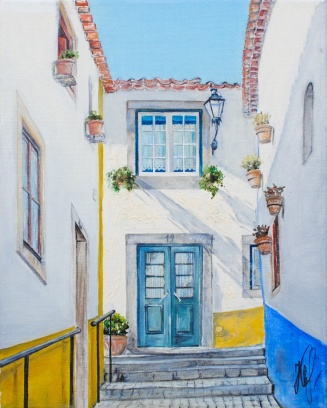 'Obidos' © Kateryna Ilchuk, 24x30cm, oil on canvas