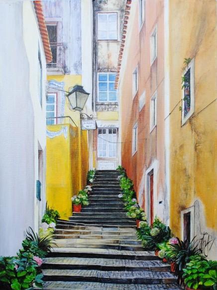 'Sintra' © Kateryna Ilchuk, 30x40cm, acrylic on canvas