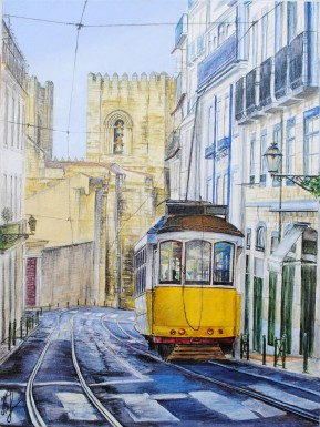 'Steady flow. Lisbon' © Kateryna Ilchuk, 30x40, acrylic on canvas
