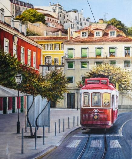 'Lisbon' © Kateryna Ilchuk, 40x50, acrylic on canvas
